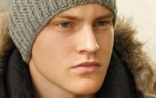 Молодежные шапки для парней спицами. Вязаная мужская шапка спицами: схемы и фото. Мужская шапка «Зигзаг удачи» спицами: схема и описание
