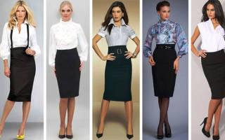 Строгий офисный костюм. Блузы с бантом. Офисный стиль одежды для женщин