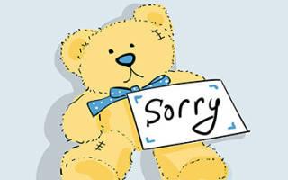 Попросить прощения у любимого парня своими словами. Как попросить прощения у любимого
