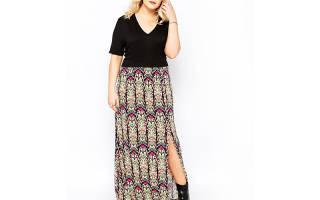 Фасон длинной юбки для полных женщин. Юбки для полных женщин: какие выбрать и с чем носить