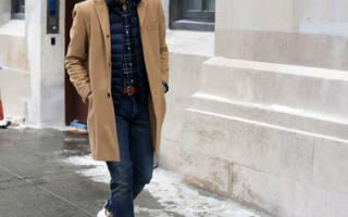 С чем носить пальто мужчине: фото современных луков. Мужское черное пальто