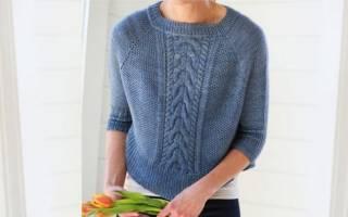 Вязание кофты регланом сверху для женщин. Как вязать реглан спицами от горловины