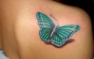 Что означает татуировка бабочка. Значение у девушек. Общее значение татуировки